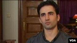 Amir Mirza Hekmati appears on Iranian state TV.