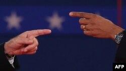 Оба кандидата на пост президента США в дебатах 16 октября активно применяли и язык жестов.