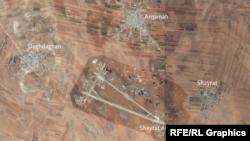Авиабаза Шайрат в Сирии на карте.