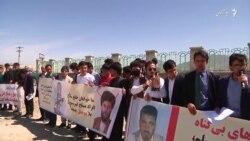 شماری از باشندگان و فعالان مدنی تخار در کابل تظاهرات کردند