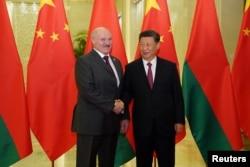 Президент Беларуси Александр Лукашенко и лидер Китая Си Цзиньпин. Пекин, 25 апреля 2019 г.