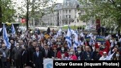 Manifestație pro-Israel, 16 mai 2021, București.