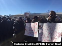 """Протест против мусорного полигона """"Ядрово"""". Волоколамск, 24 марта 2018 года"""