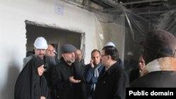 اکبر طبری در کنار باقر لاریجانی، برادر صادق لاریجانی و مرضیه وحیددستجردی، مشاور صادق لاریجانی.