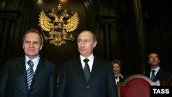 Президент России Владимир Путин и глава Конституционного суда РФ Валерий Зорькин (архивное фото)