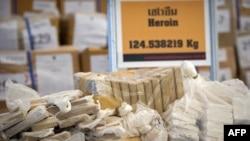 تای لېنډ: نیول شوي مخدره مواد نندارې ته اېښودل شوي