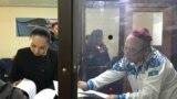 Журналист Амангельды Батырбеков в суде. Туркестан, 25 ноября 2019 года.