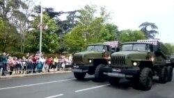 Репетиция военного парада в Севастополе (видео)