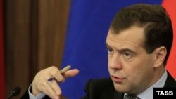 Russia -- President Dmitry Medvedev speaks at a meeting of Russia's State Council in Khabarovsk, 11Nov2011
