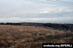 Сібірскі пэйзаж побач з Трансьсібірскай магістральлю