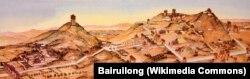 Ляң тоосунда жайгашкан Цяньлин (Чиаң-лиң) көрүстөнүнүн калыбы.