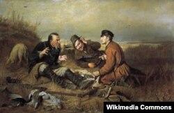 Василий Перов «Охотники на привале»