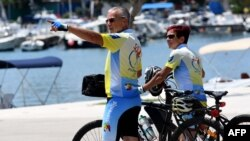 Turisti na Krku, lipanj 2020