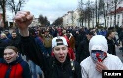 Акция протеста в городе Молодечно, 10 марта