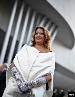 Заха Хадид на открытии музея MAXXI в Риме