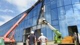 Строительство Центра олимпийской подготовки по водным видам спорта в Симферополе, август 2021 года