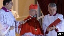 Жан-Люі Таран абвяшчае імя новага папы, сакавік 2013