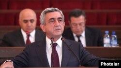 Presidenti i Armenisë, Serzh Sargsian.
