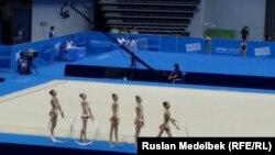 Қазақстан көркем гимнастика құрамасы. Қытай, Нанкин. 26 тамыз 2014 жыл