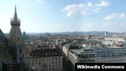 Вид на Відень з північної башти собору Св. Стефана