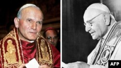Понтифіки Іван Павло ІІ й Іван ХХІІІ