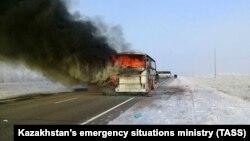 Ղազախստան - Այրվող ավտոբուսը, 18-ը հունվարի, 2018թ․