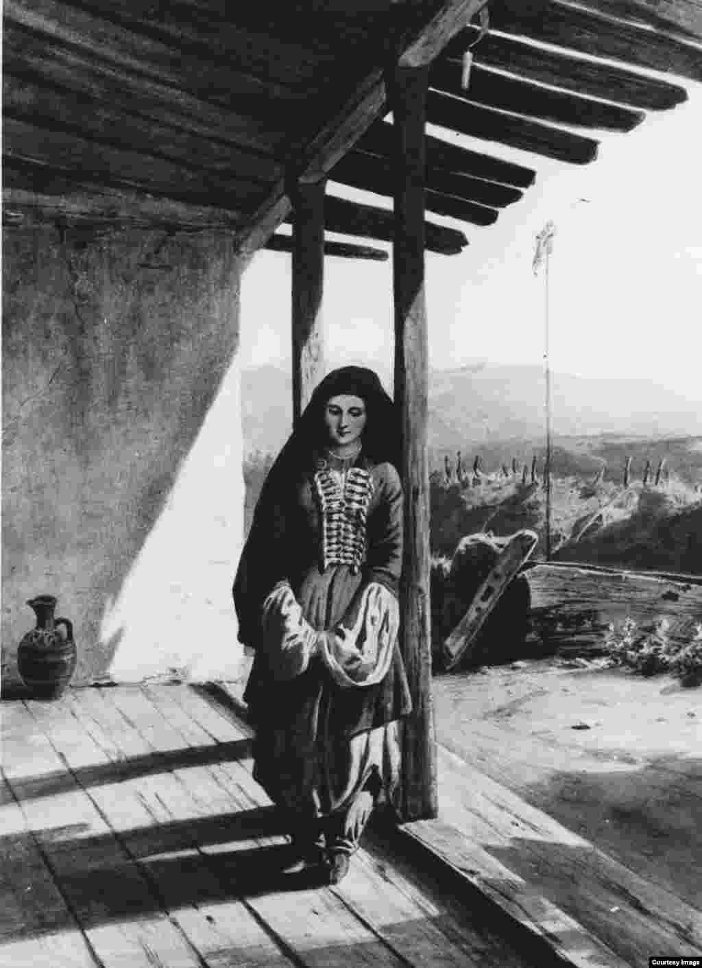 Чеченська дівчина. Р. Гагарін