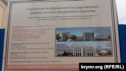 «Центра детского искусства» в Симферополе должны были достроить в 2019 году