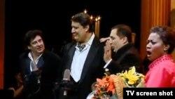 მარცხნიდან მარჯვნივ: მარჩელო ალვარესი, ამბროჯიო მაესტრი, პაატა ბურჭულაძე და მიშელ კრაიდერი