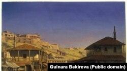 Вільгельм Кізеветтер. Татарська кав'ярня на бахчисарайському базарі