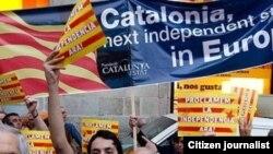 Демонстрація прихильників незалежності Каталонії в Барселоні (архівне фото)