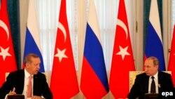 Türkiýäniň prezidenti Rejep Taýýyp Erdogan we Orsýetiň prezidenti Wladimir Putin.