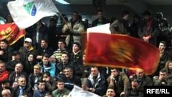 Sa jednog od predizbornih skupova Koalicije za evropsku Crnu Goru, Foto: Savo Prelević