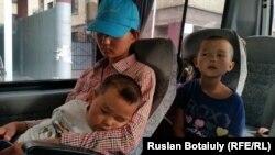 Жеңісгүл Ермұхаметтің балалары. Астана, 29 шілде 2015 жыл.