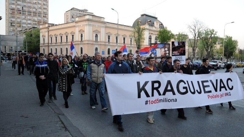 Kragujevčani se spontano okupili na protestu