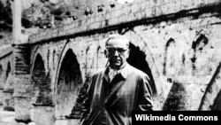 Ivo Andrić u Višegradu, arhivska fotografija