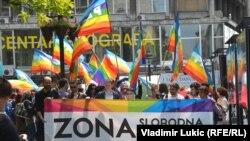 Beograd: Šetnjom obeležen Dan ponosa