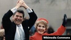 40-й президент США Рональд Рейган со своей женой