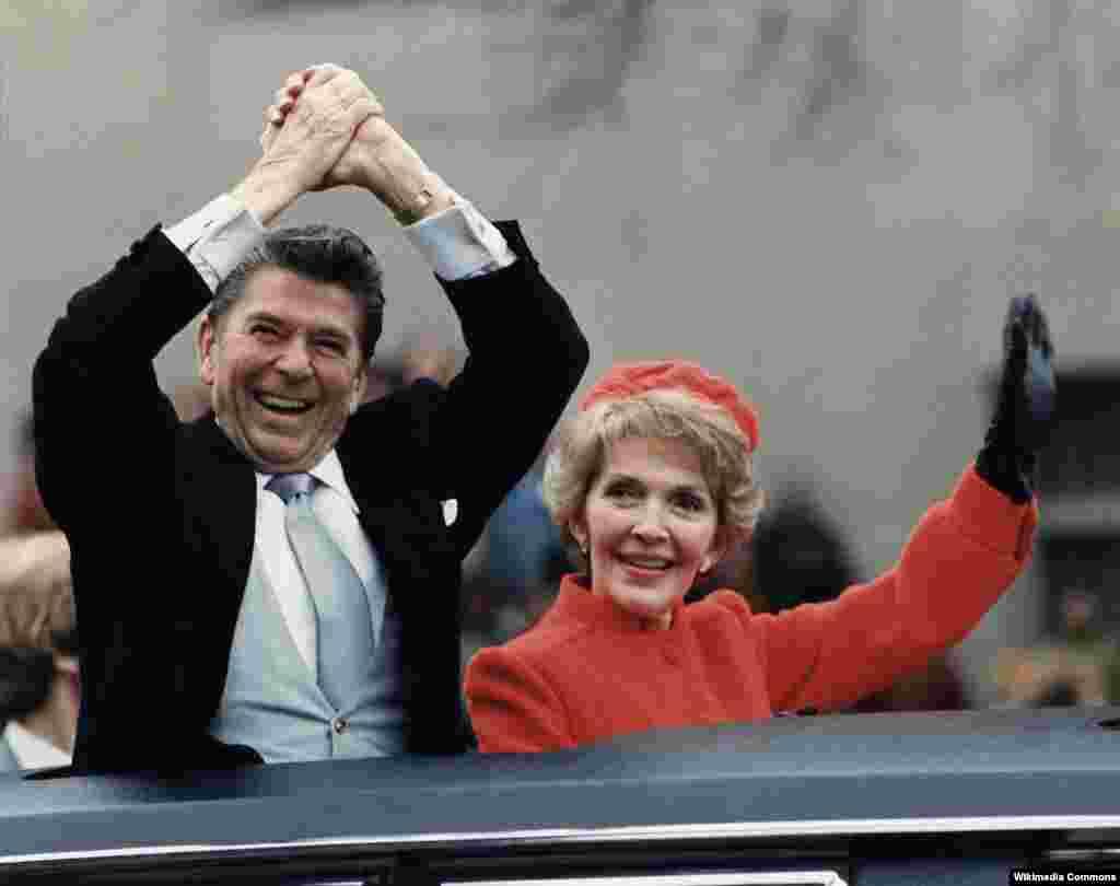 Президент Рейган и первая леди на инаугурации,1981 год
