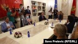 Sa sastanka Ivana Brajovića s predstavnicima izbornih lista koje su obezbijedile parlamentarni status, Podgorica, 16. septembar