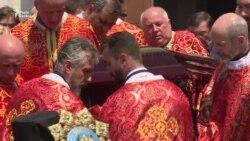 У Києві поховали колишнього главу УГКЦ кардинала Любомира Гузара (відео)
