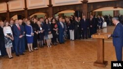 Претседателот на Собранието Трајко Вељаноски организира прием по повод 8. септември - Денот на независноста на Македонија.