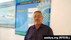 Гражданский активист из Уральска Бауржан Алипкалиев в здании суда, где ему вменяют нарушение порядка проведения митингов. Западно-Казахстанская область, 15 февраля 2020 года.
