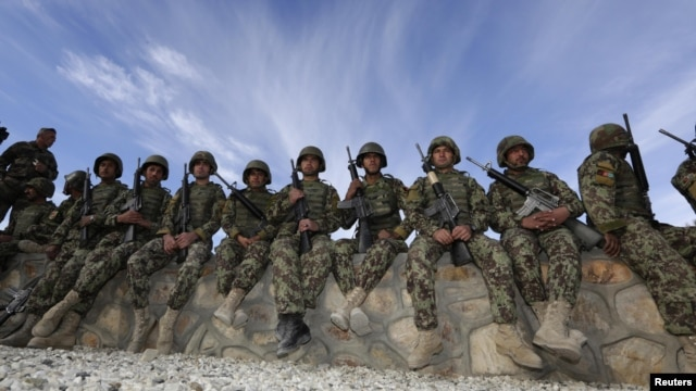 Soldiers from the Afghan National Army