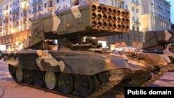 Росийская тяжелая огнеметная система залпового огня Буратино