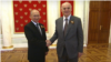 რუსეთის პრეზიდენტი ვლადიმირ პუტინი და აფხაზეთის დე ფაქტო პრეზიდენტი ასლან ბჟანია კრემლში. 2020 წლის ივნისი