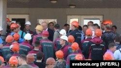Страйк шахтараў у Салігорску 17 жніўня