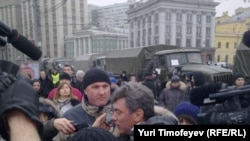"Boris Nemtsov was identified as an ""opposition leader"" on state TV."