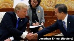 رؤسای جمهور کوریا جنوبی و امریکا