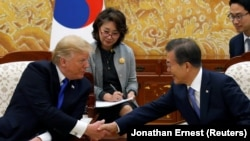 Donald Trump i Moon Jae-in u Seulu, novembar 2017.